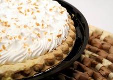 kräm- pie för kokosnöt Royaltyfri Bild