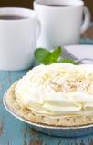 Kräm- pie för kokosnöt Fotografering för Bildbyråer