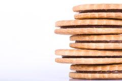 Kräm- smörgåskakor Royaltyfri Foto