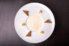 Kräm- soppa för champinjon, bästa sikt arkivbilder
