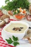 Kräm- soppa för kalvkött royaltyfri bild