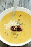 Kräm- soppa för potatis royaltyfria foton