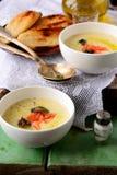 Kräm- soppa för potatis Arkivfoton