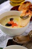 Kräm- soppa för potatis Arkivfoto