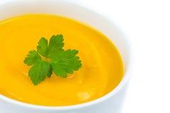 Kräm- soppa för pumpa Arkivfoto