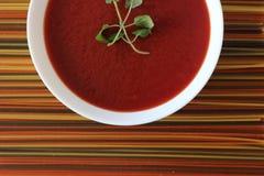 Kräm- soppa för tomat Arkivfoto