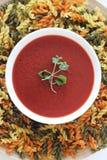 kräm- soppa för tomat, tomatsoppa, Royaltyfri Bild