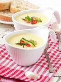 Kräm- soppa för zucchini Royaltyfria Foton