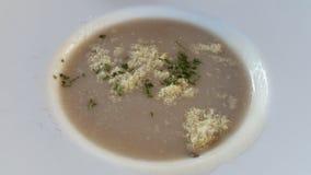 kräm- soup arkivfoto