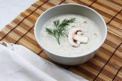 Kräm- soup för Champignon Royaltyfri Fotografi