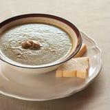 Kräm- soup för champinjon Royaltyfri Foto