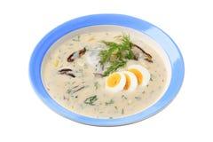 Kräm- soup för Dill Arkivfoton