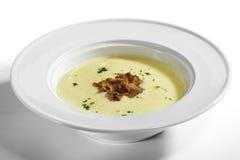 Kräm- Soup för potatis arkivbilder