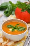 Kräm- soup för pumpa Arkivfoton