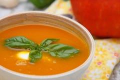 Kräm- soup för pumpa Royaltyfria Bilder