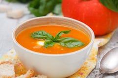Kräm- soup för pumpa Arkivbild