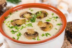 Kräm- soup med champinjoner Arkivbilder