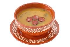 Kräm- soup med den klippta korven Royaltyfria Foton