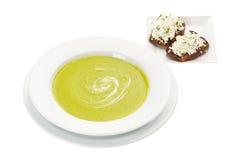Kräm- Soup med spenat Fotografering för Bildbyråer