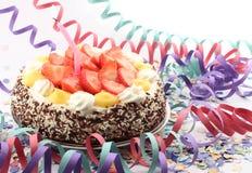 kräm- underhållning för cake Arkivbild