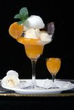 kräm- vanilj för aprikos Royaltyfria Foton
