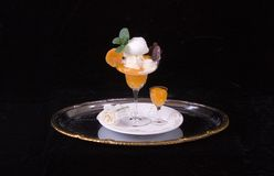 kräm- vanilj för aprikos Royaltyfri Foto
