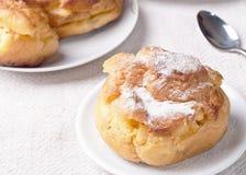 kräm- vanilj för berliner Royaltyfri Fotografi