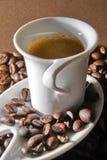 krämig espresso Arkivfoton