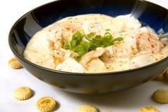 krämig fisk för chowder Royaltyfri Foto