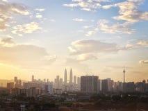 Krämig morgon i Kuala Lumpur arkivbild