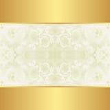 Krämig och guld- bakgrund Royaltyfri Fotografi