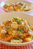 krämig pasta Royaltyfria Bilder