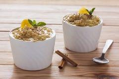 Ricepudding arkivfoto