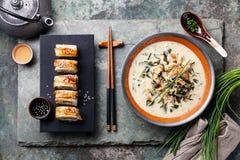 Krämig soppa med ålen arkivfoto