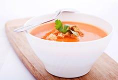 krämig soup för morot Royaltyfria Bilder