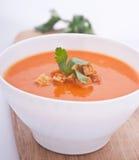 krämig soup för morot Royaltyfri Bild