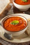 Krämig tomat Basil Bisque Soup royaltyfria bilder