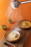 Krämiga limefrukttarts Royaltyfri Foto