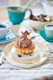 Krämiga muffiner Fotografering för Bildbyråer