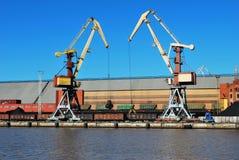 Kräne im Kanal Lizenzfreies Stockbild