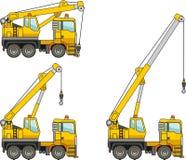 Kräne Maschinen des schweren Baus Auch im corel abgehobenen Betrag Lizenzfreie Stockfotografie