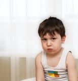 kränkt barn royaltyfri fotografi