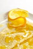Kräpp Suzette, pannkaka med orange marmalade Royaltyfri Foto