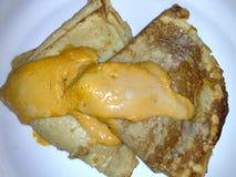 Kräppar med ost och besciamella Royaltyfri Bild