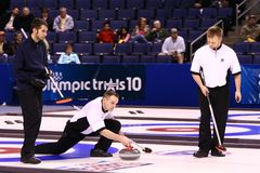 Kräuselnteam der USA-olympischen Männer Stockbild