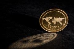 KRÄUSELUNG cryptocurrency Münze stockfotos