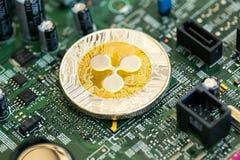 KRÄUSELUNG cryptocurrency Münze lizenzfreies stockbild