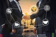 Kräuselung XRP und Cryptocurrency-Zahlung nehmen an lizenzfreies stockbild