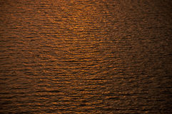 Kräuselungen im Goldwasser Lizenzfreie Stockbilder