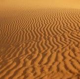 Kräuselungen im Sand Stockbild